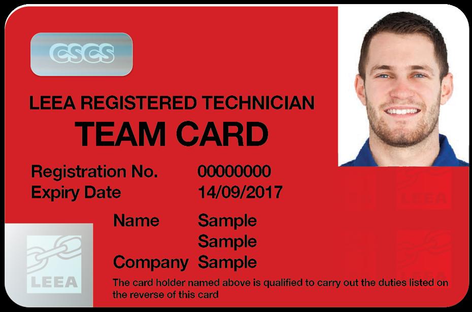 Leea Verify A Team Card