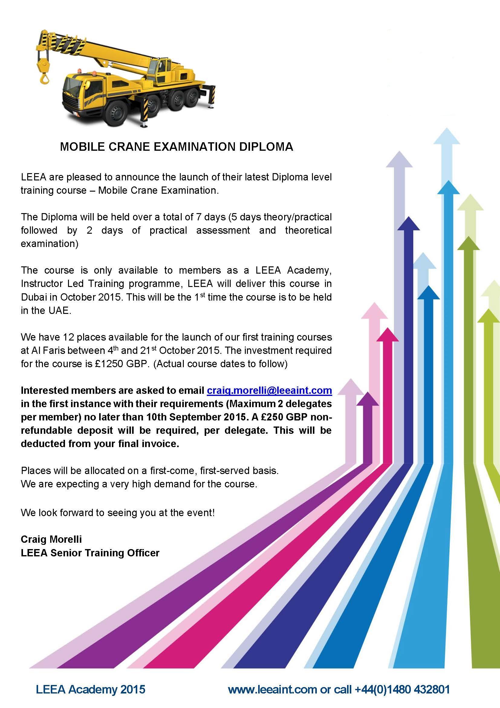 Mobile Crane Dubai : Leea mobile crane examination dubai october